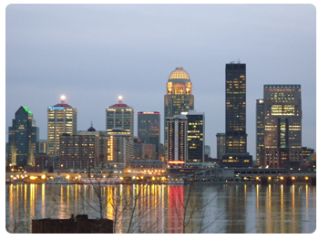 Louisville Skyline - From Jeffersonville Indiana